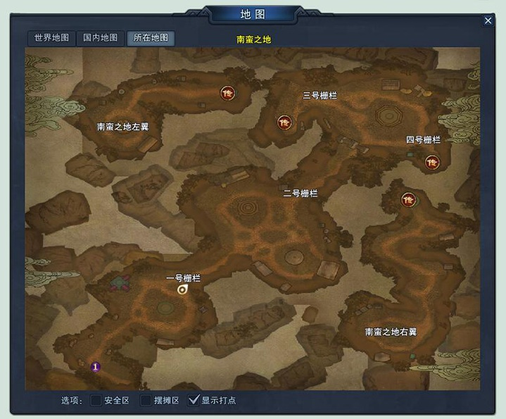 南蛮之地地图介绍